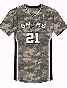 马刺新季将推出新款球衣 短袖迷彩致敬军人传统