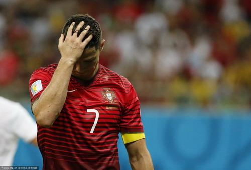 世界杯 C罗压哨助攻 葡萄牙2