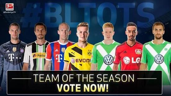 德甲最佳阵容候选名单