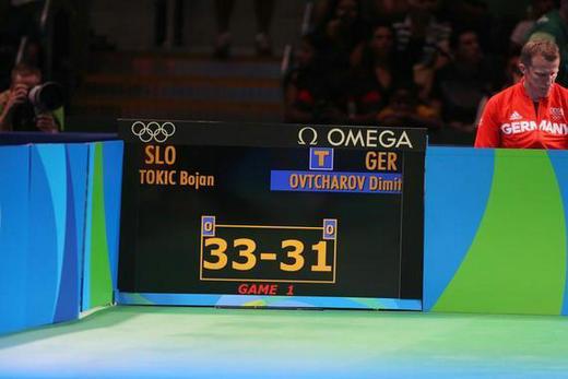 在乒乓球比赛中,每局先得11分者获胜.