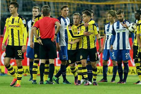 德国足协官方宣布,对多特蒙德1-1平柏林赫塔的比赛中两位领受红牌的