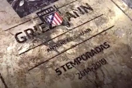 绝情!格列兹曼纪念牌遭到马竞球迷破坏