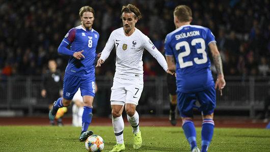 欧预赛-法国1-0胜冰岛 格列兹曼造点吉鲁建功